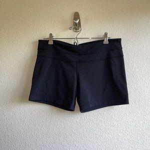 Lululemon Black Athletic Shortie Shorts
